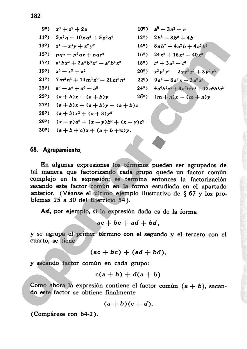 Álgebra de Mancil 1 - Página 182
