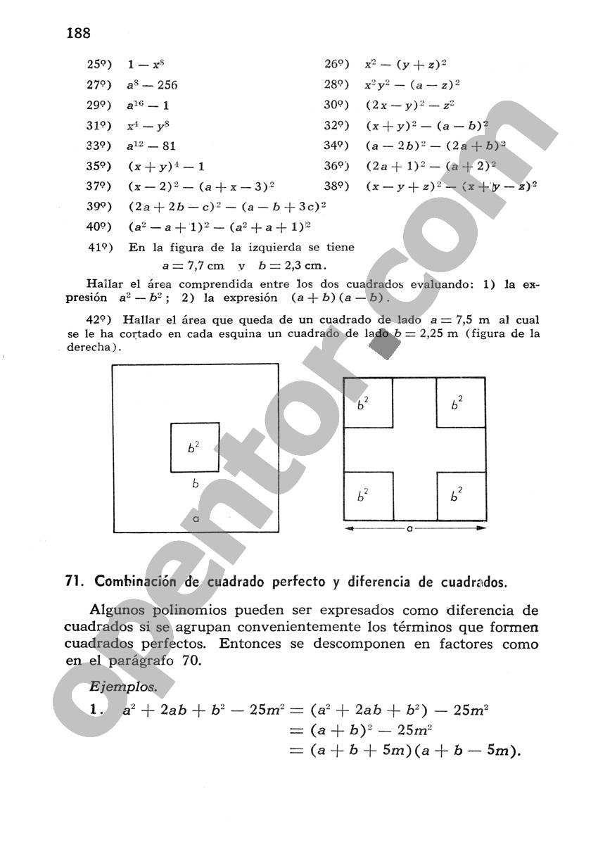 Álgebra de Mancil 1 - Página 188