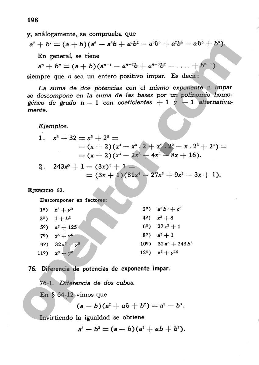 Álgebra de Mancil 1 - Página 198
