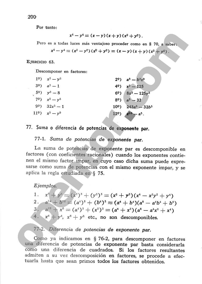 Álgebra de Mancil 1 - Página 200