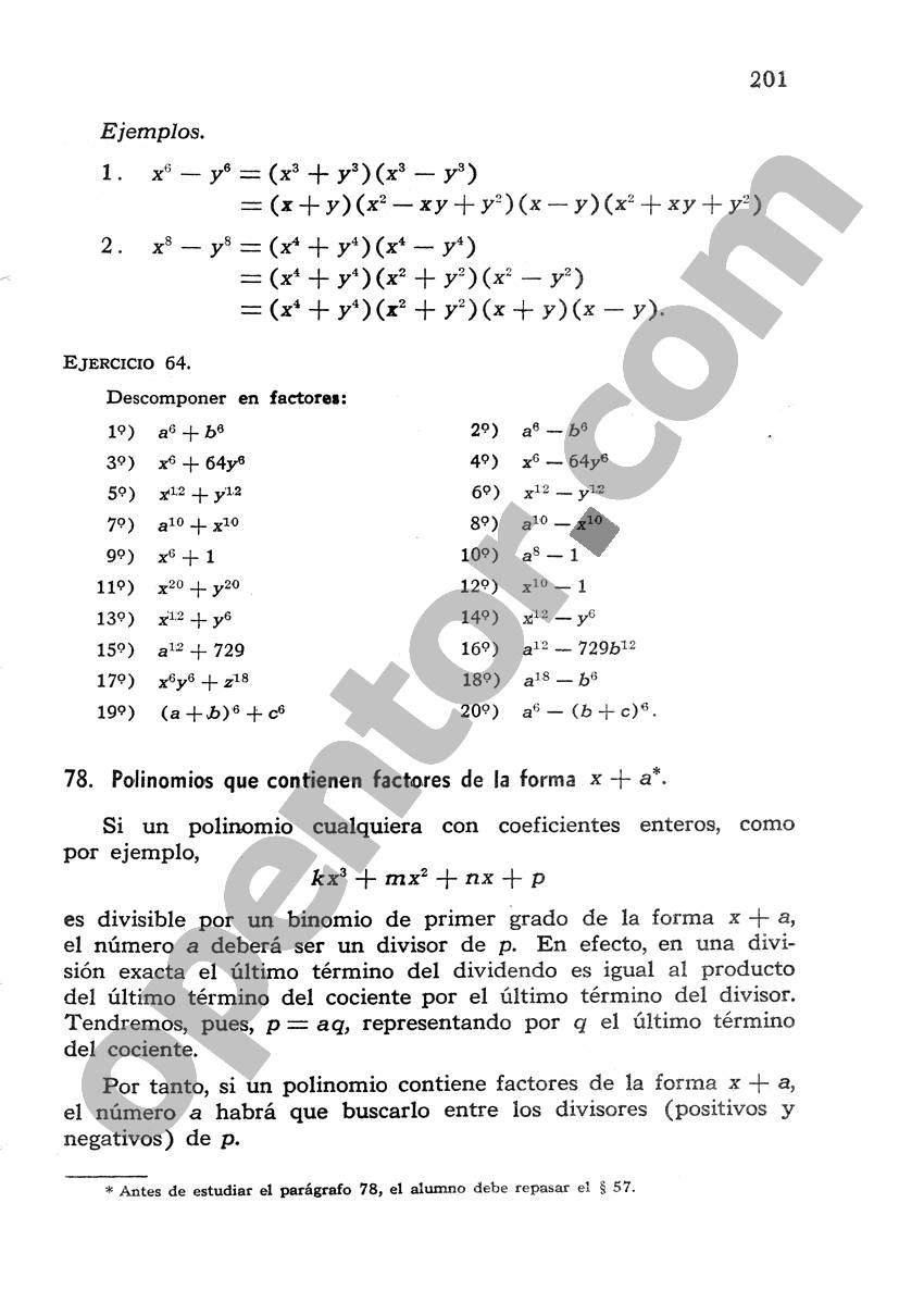 Álgebra de Mancil 1 - Página 201