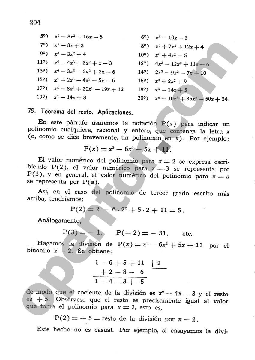 Álgebra de Mancil 1 - Página 204