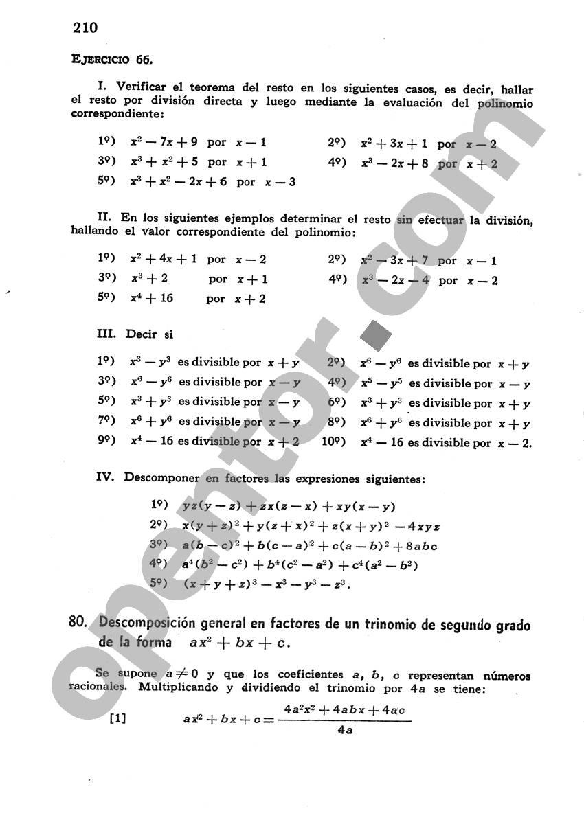 Álgebra de Mancil 1 - Página 210