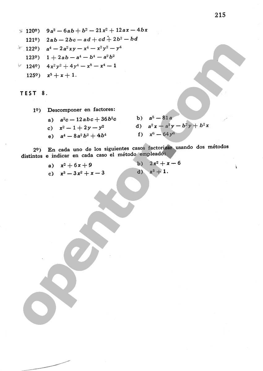 Álgebra de Mancil 1 - Página 215