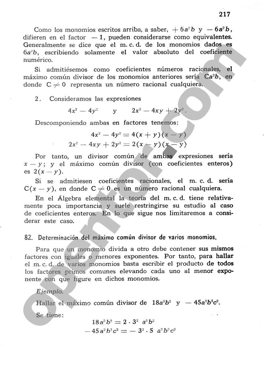 Álgebra de Mancil 1 - Página 217
