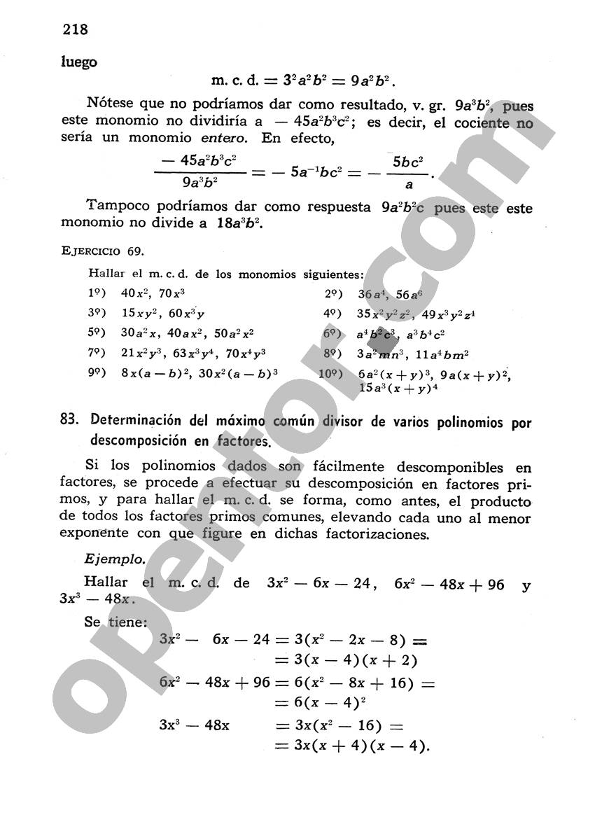 Álgebra de Mancil 1 - Página 218