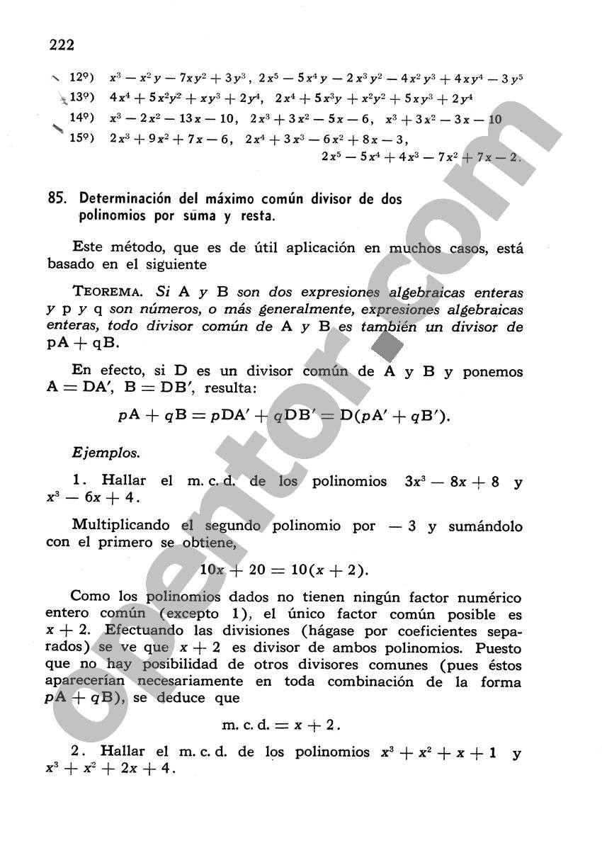 Álgebra de Mancil 1 - Página 222