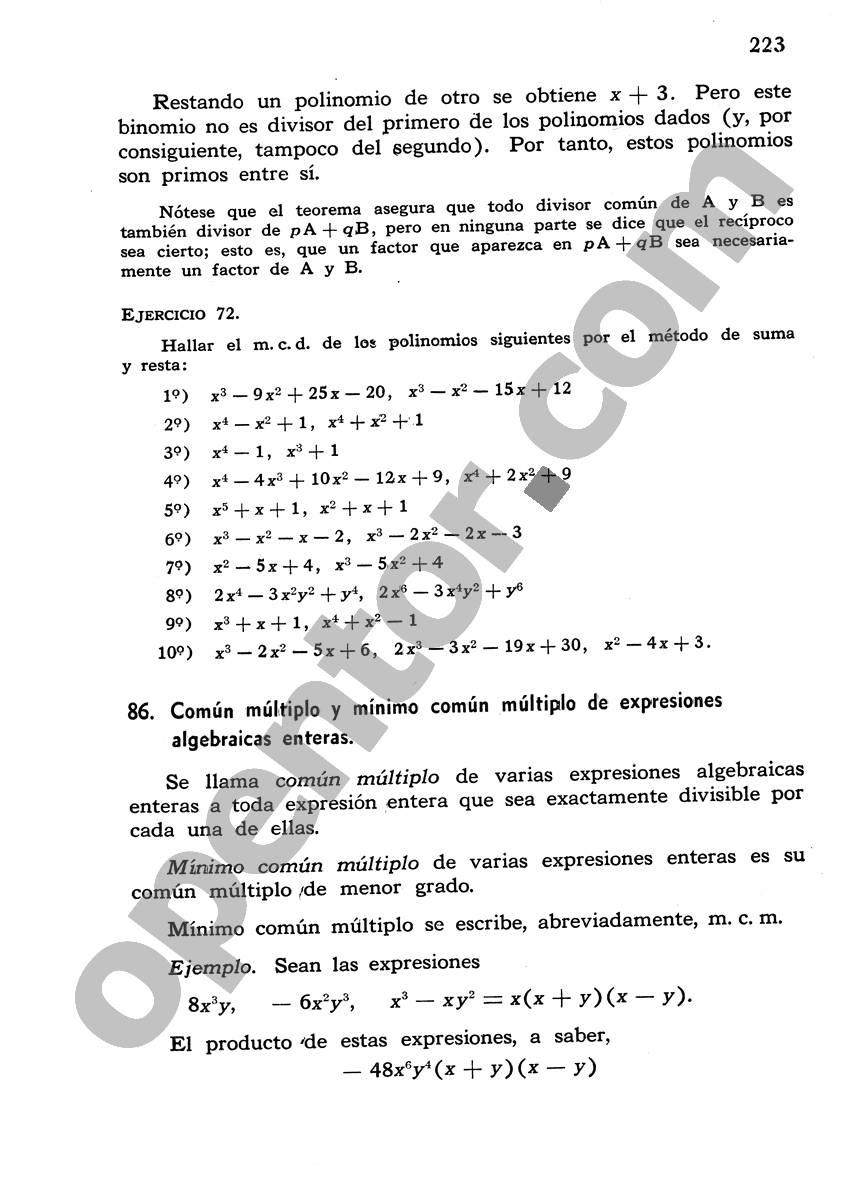 Álgebra de Mancil 1 - Página 223