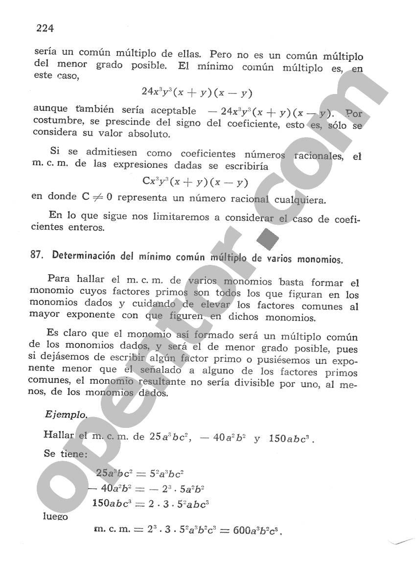 Álgebra de Mancil 1 - Página 224