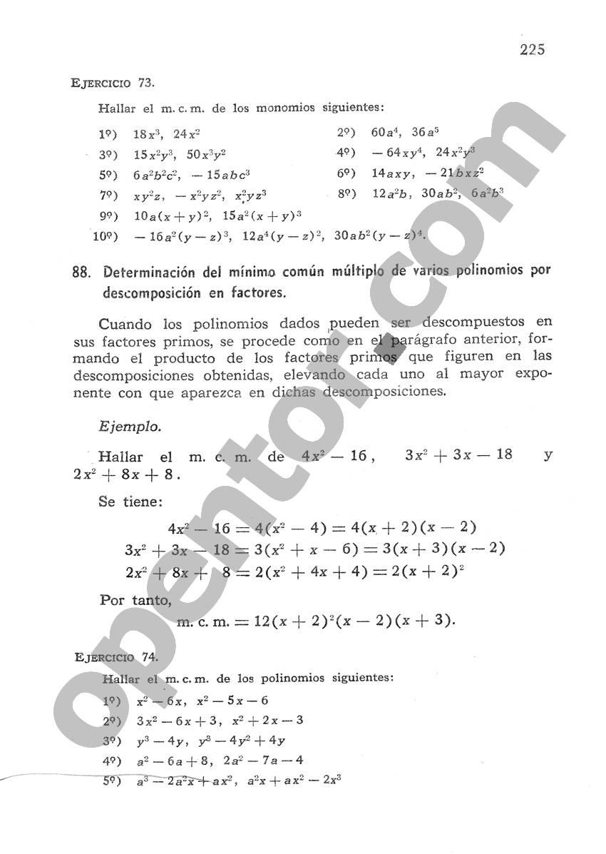 Álgebra de Mancil 1 - Página 225