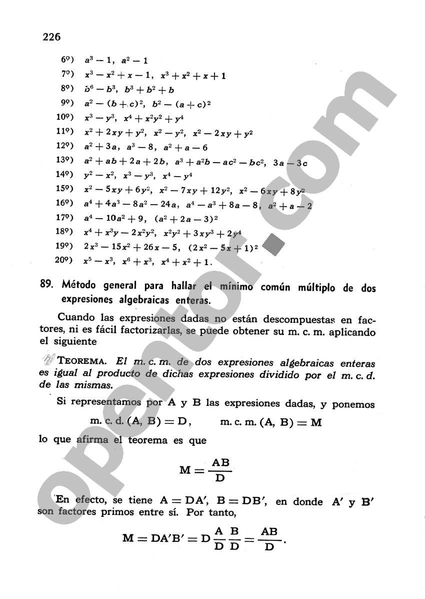 Álgebra de Mancil 1 - Página 226