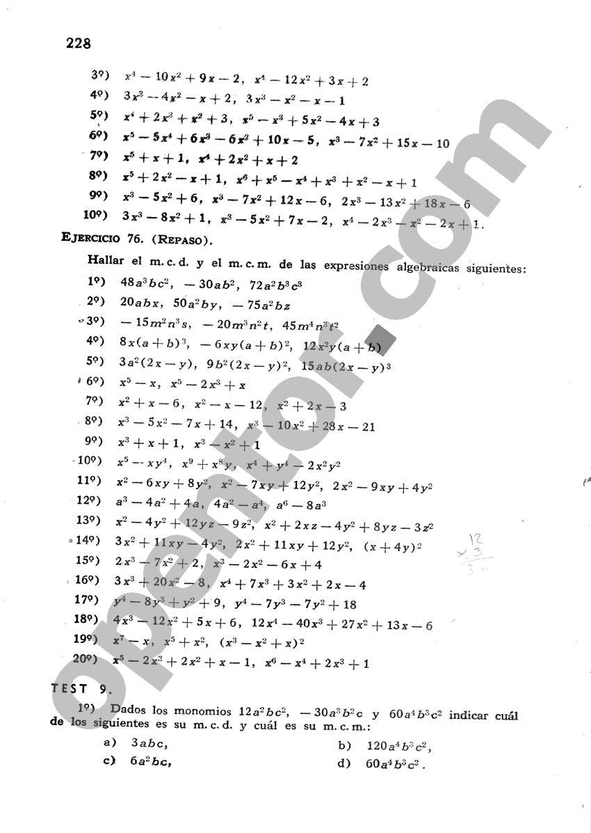 Álgebra de Mancil 1 - Página 228