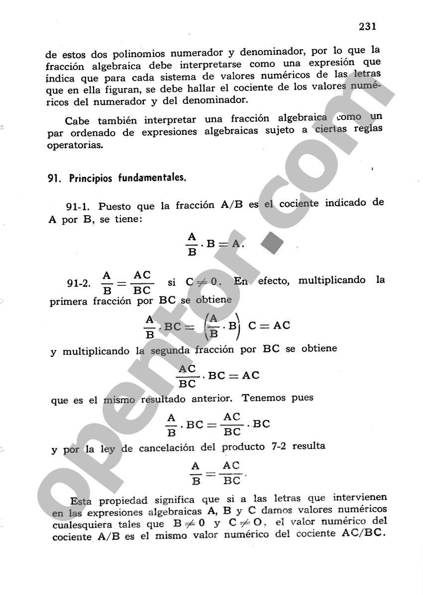 Álgebra de Mancil 1 - Página 231