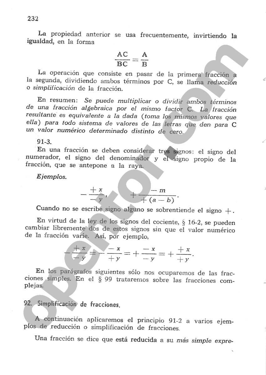 Álgebra de Mancil 1 - Página 232