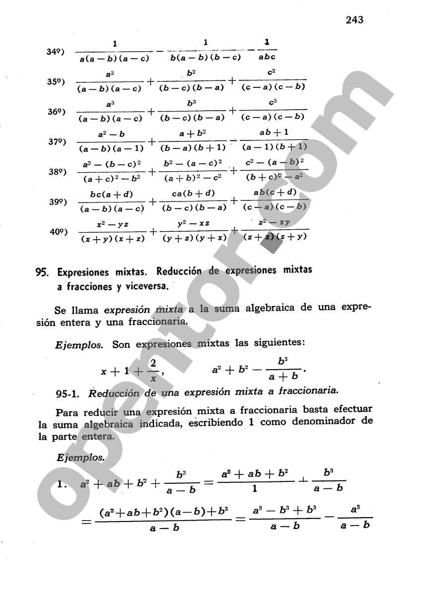 Álgebra de Mancil 1 - Página 243
