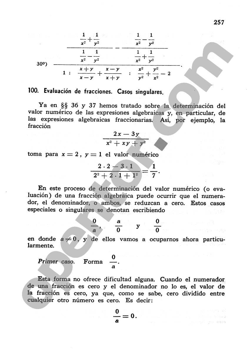 Álgebra de Mancil 1 - Página 257