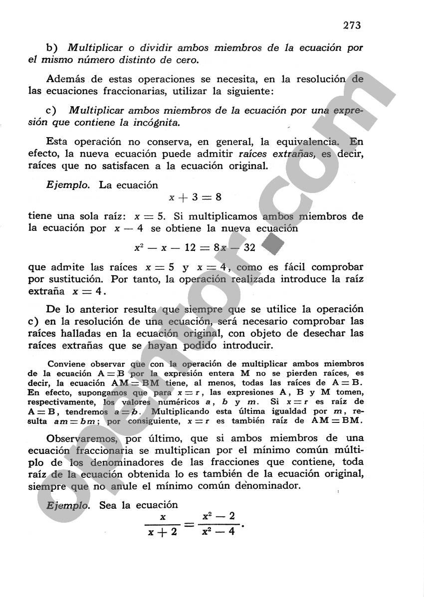 Álgebra de Mancil 1 - Página 273