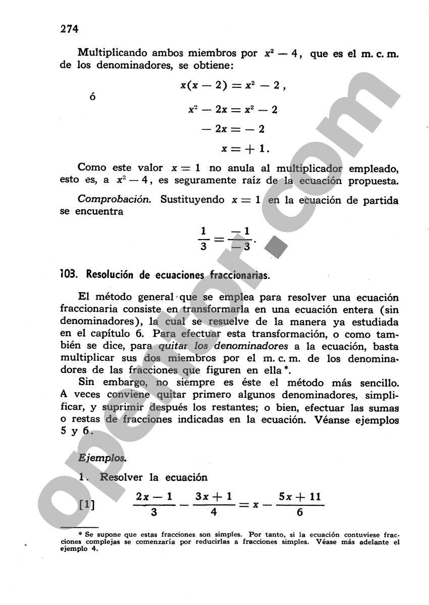 Álgebra de Mancil 1 - Página 274