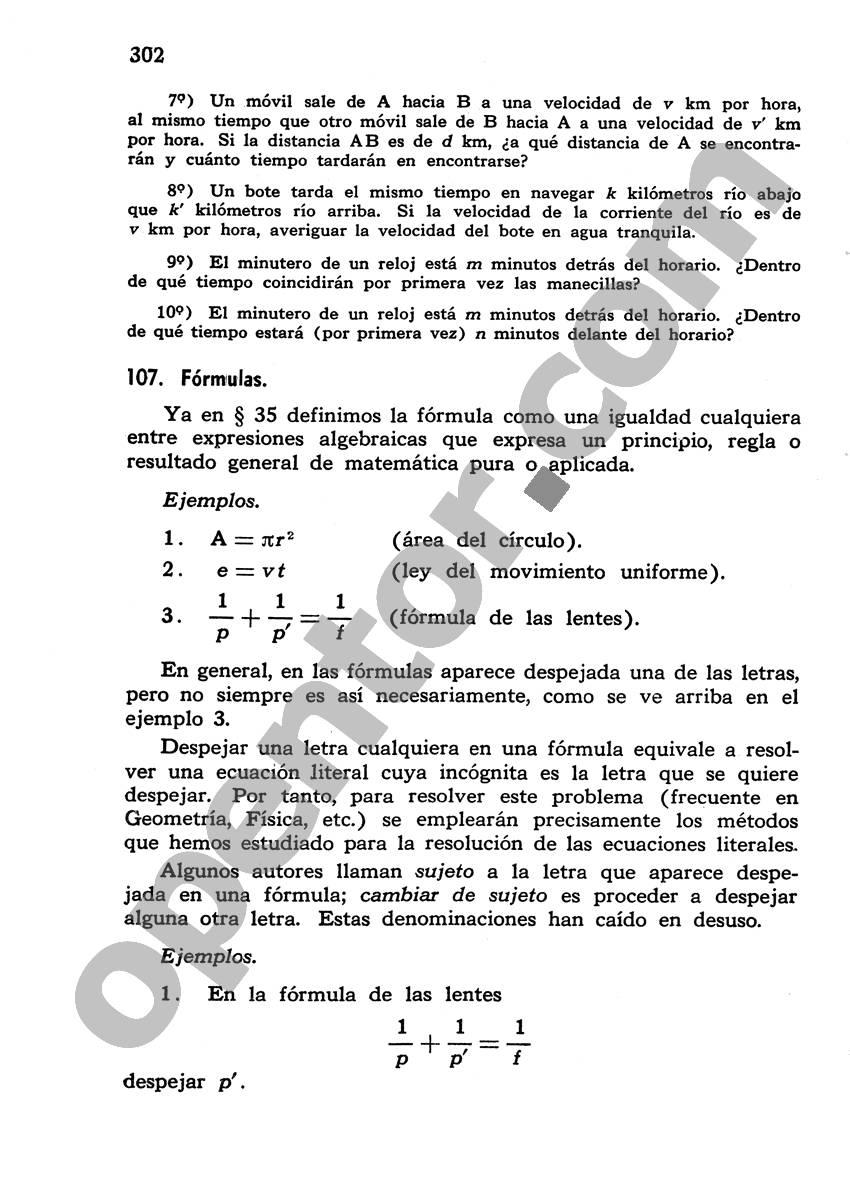 Álgebra de Mancil 1 - Página 302
