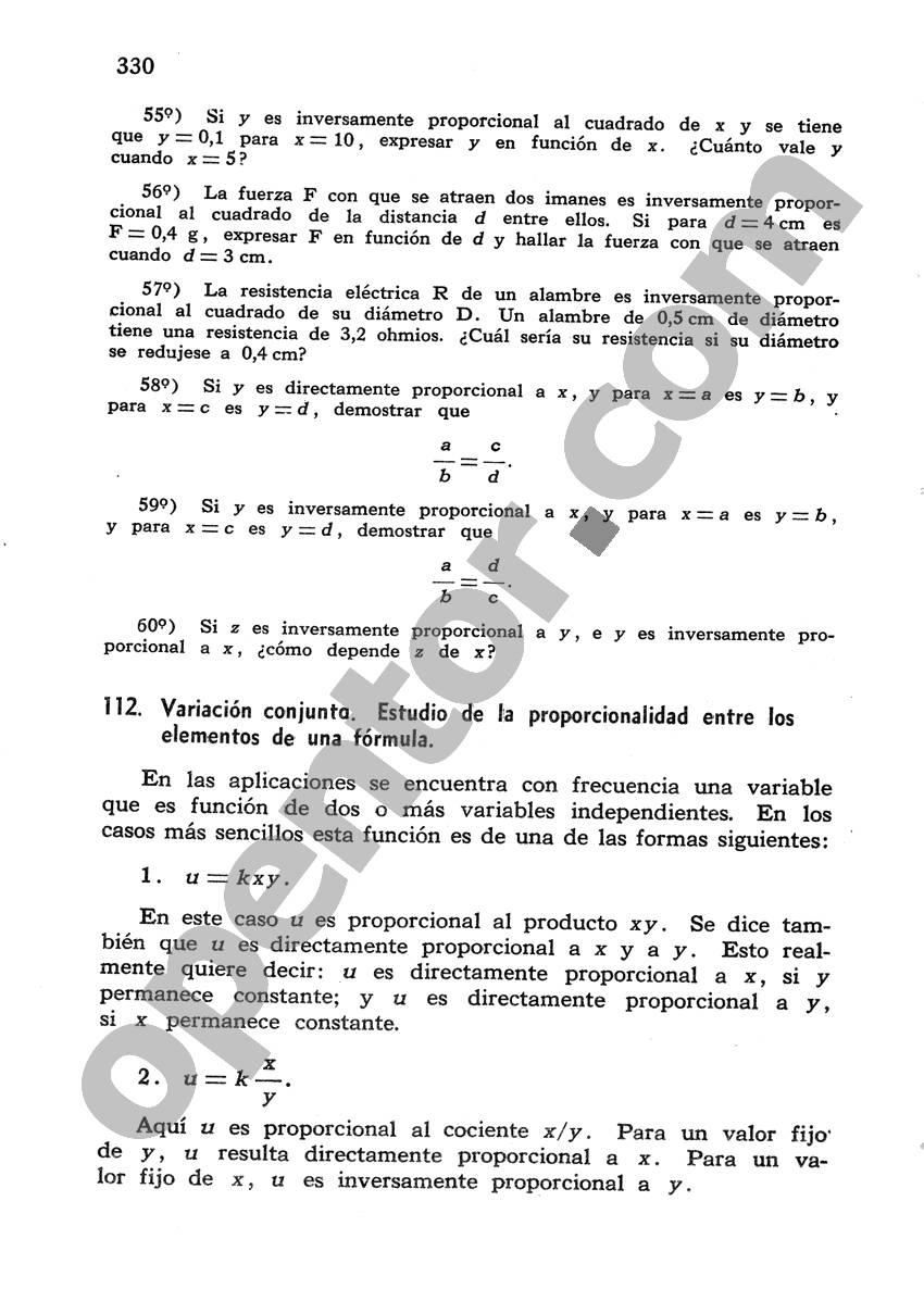 Álgebra de Mancil 1 - Página 330