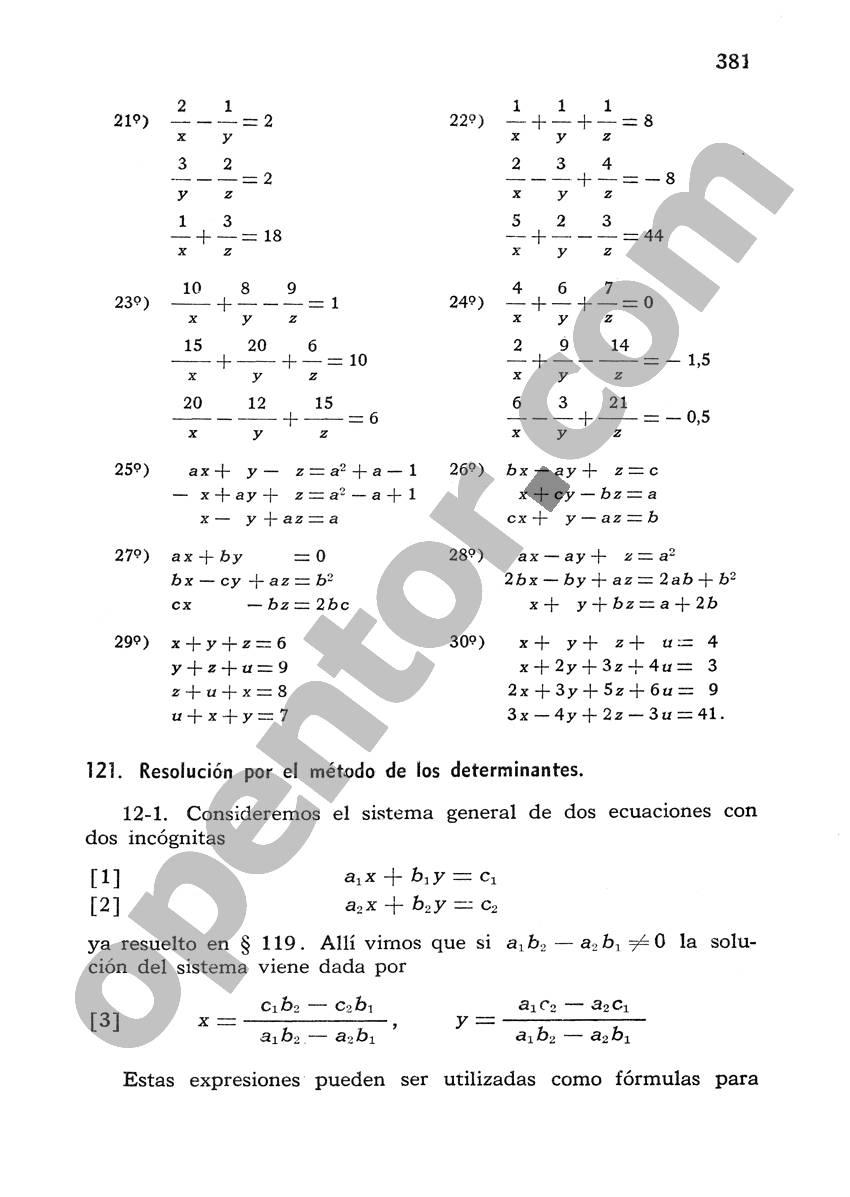 Álgebra de Mancil 1 - Página 381