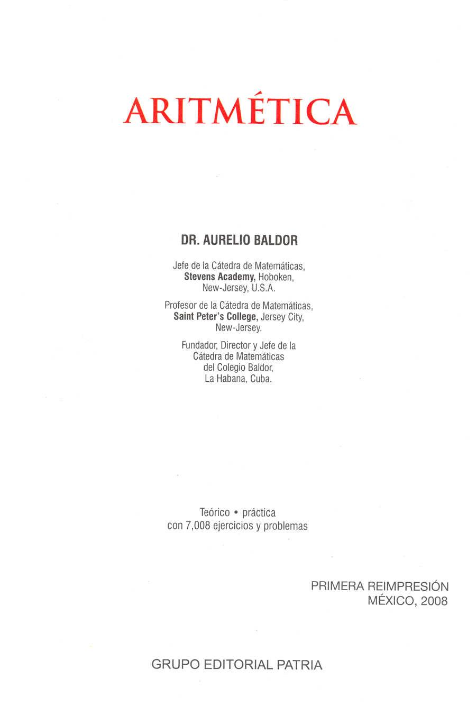Aritmética de Baldor - Página 1