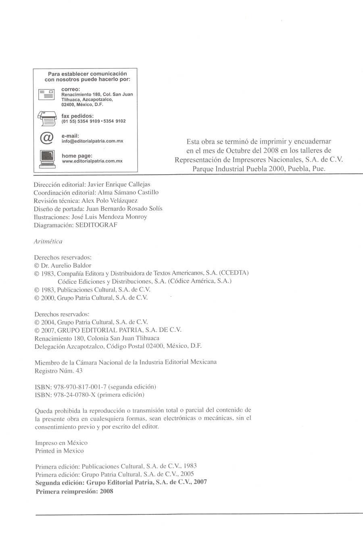 Aritmética de Baldor - Página 2