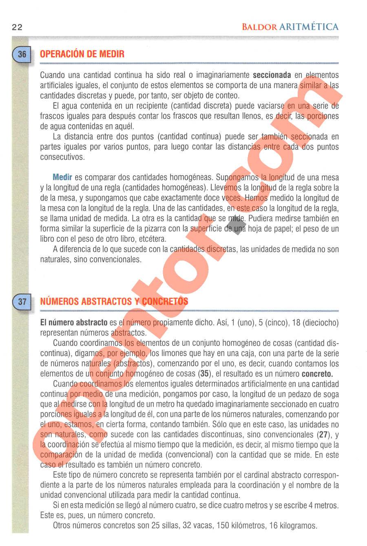 Aritmética de Baldor - Página 22