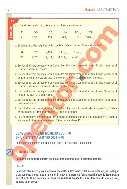 Aritmética de Baldor - Página 40