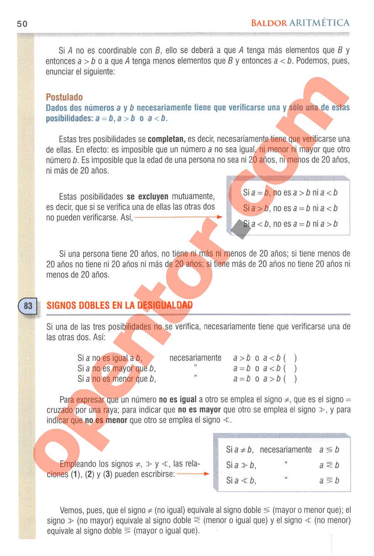 Aritmética de Baldor - Página 50