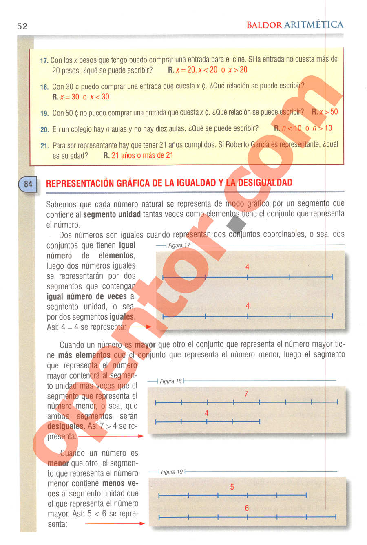 Aritmética de Baldor - Página 52