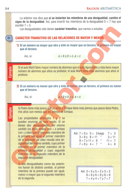 Aritmética de Baldor - Página 54