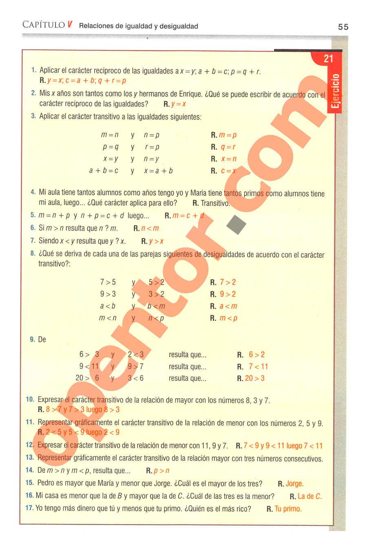 Aritmética de Baldor - Página 55