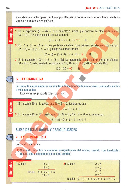 Aritmética de Baldor - Página 64