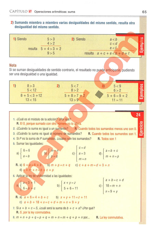 Aritmética de Baldor - Página 65
