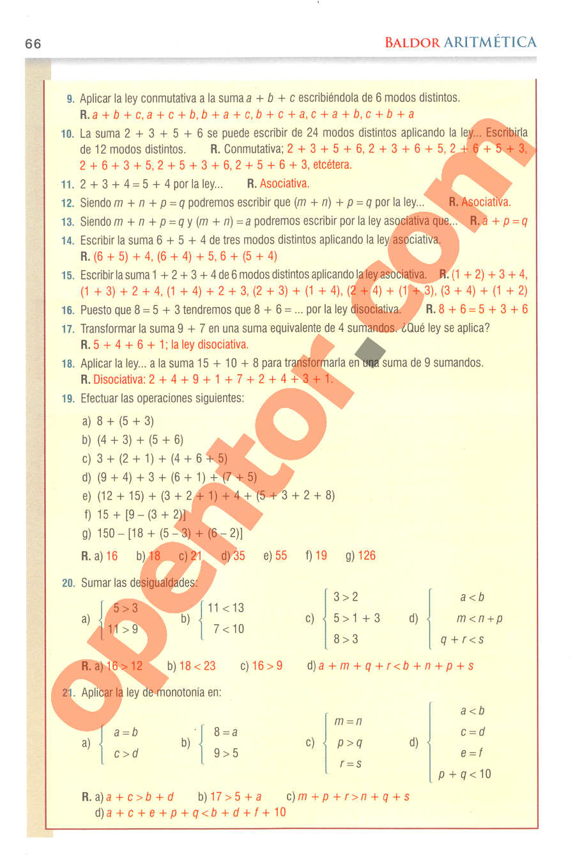 Aritmética de Baldor - Página 66