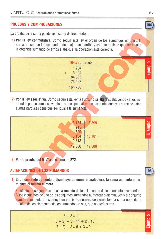 Aritmética de Baldor - Página 67