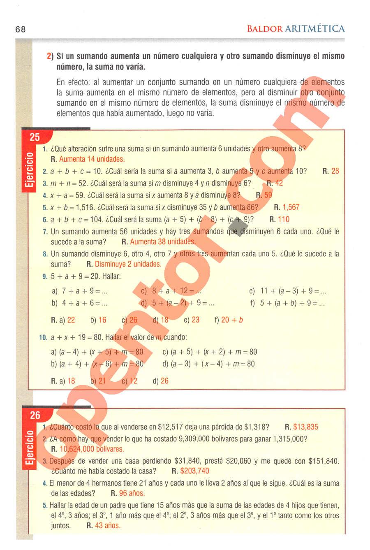 Aritmética de Baldor - Página 68