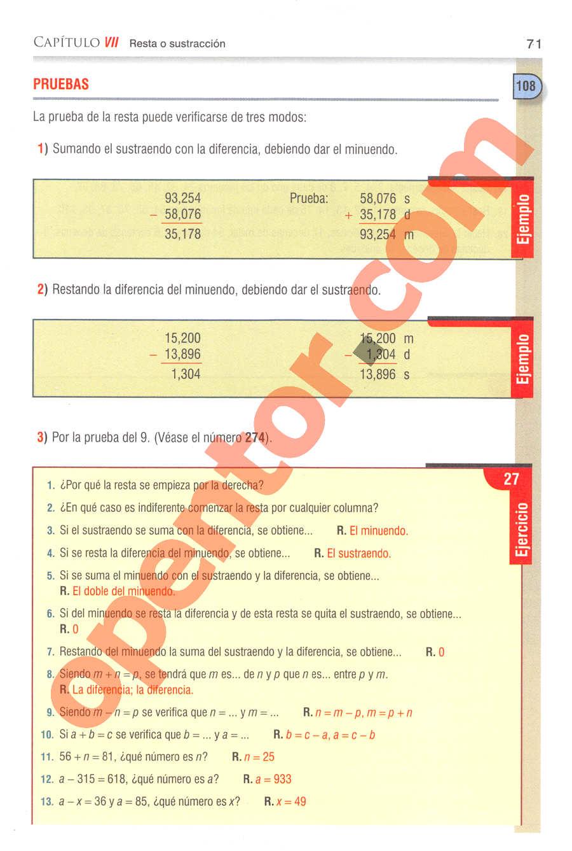 Aritmética de Baldor - Página 71