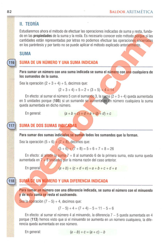 Aritmética de Baldor - Página 82