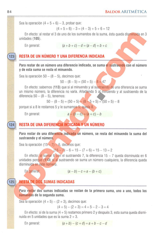Aritmética de Baldor - Página 84