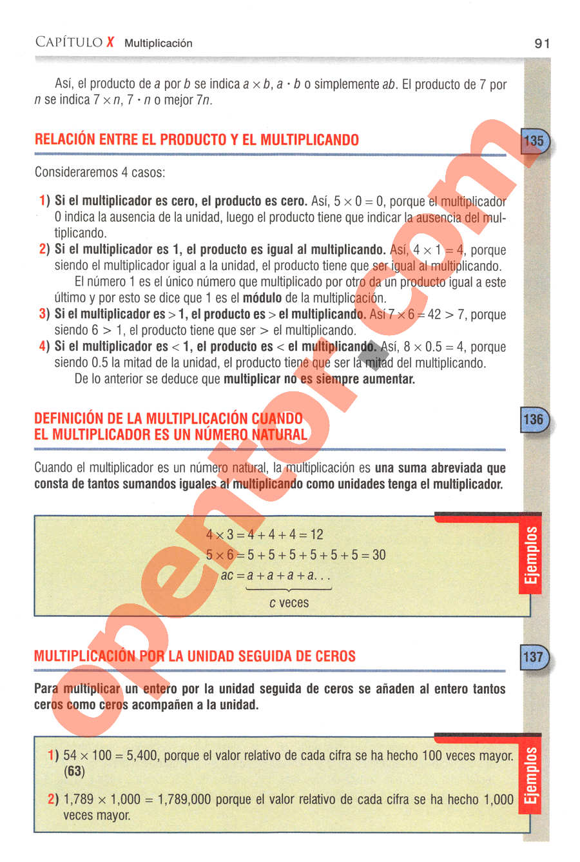 Aritmética de Baldor - Página 91