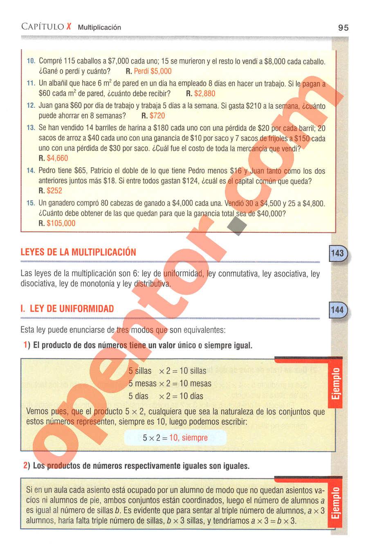 Aritmética de Baldor - Página 95