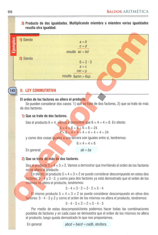 Aritmética de Baldor - Página 96