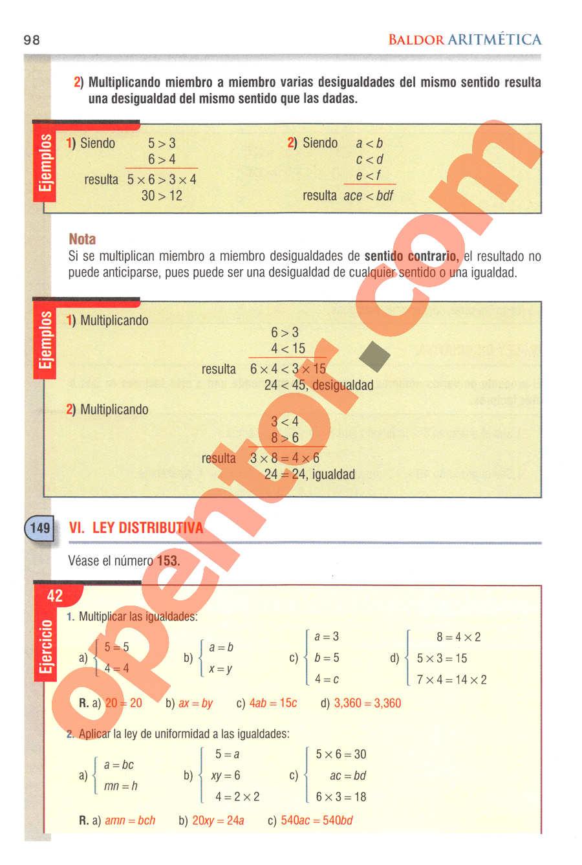 Aritmética de Baldor - Página 98