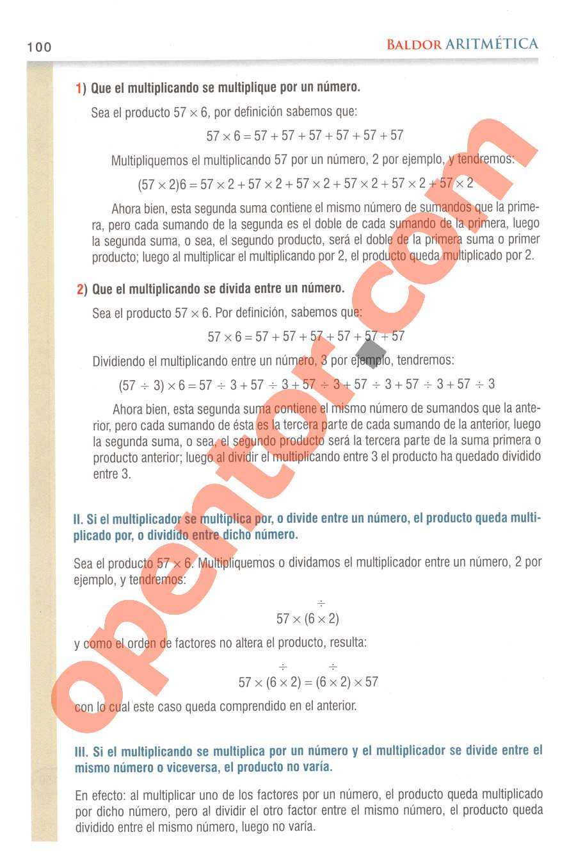 Aritmética de Baldor - Página 100