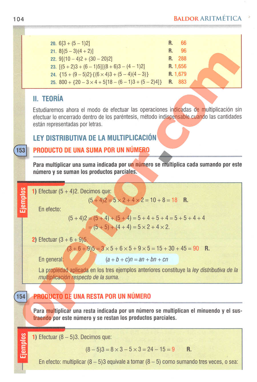 Aritmética de Baldor - Página 104