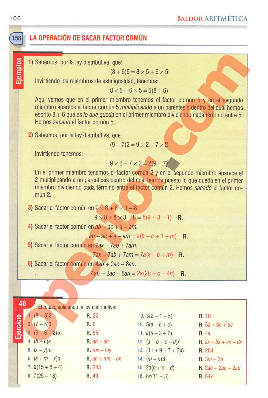 Aritmética de Baldor - Página 106