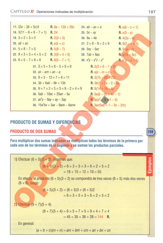 Aritmética de Baldor - Página 107