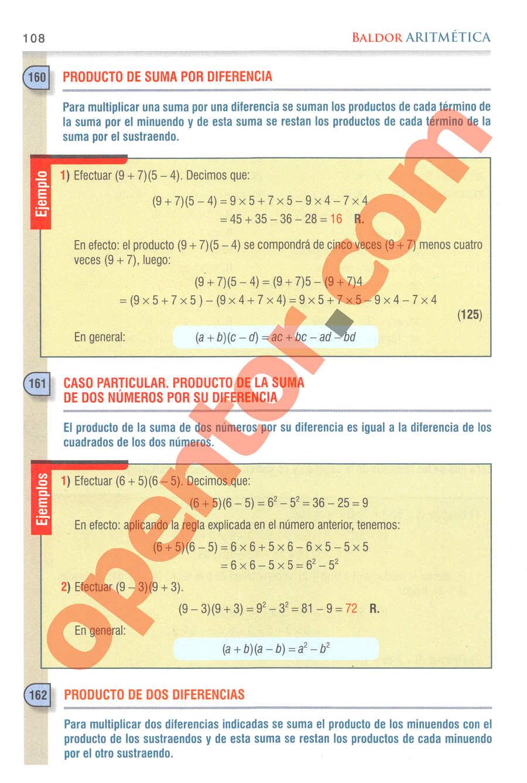 Aritmética de Baldor - Página 108